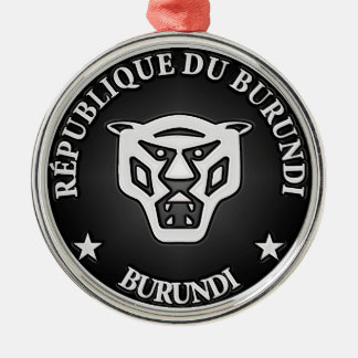Burundi Round Emblem Metal Ornament