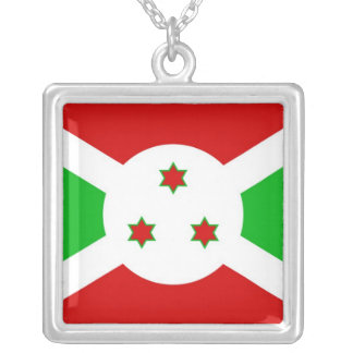 BURUNDI SILVER PLATED NECKLACE