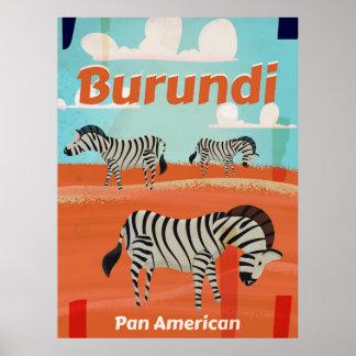 Burundi vintage travel poster
