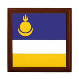 Buryatia Flag Jewelry Box
