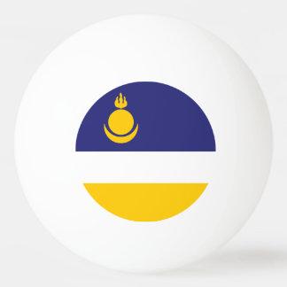 Buryatia Flag Ping-Pong Ball