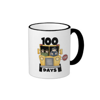 Bus 100 Days of School t-shirts and Gifts Mugs
