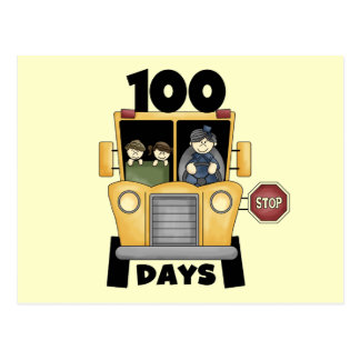 Bus 100 Days of School t-shirts and Gifts Postcard