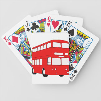 bus bicycle playing cards