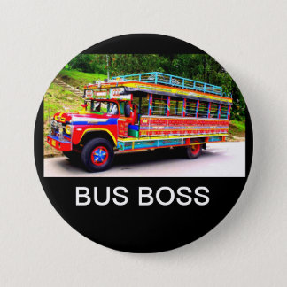 BUS BOSS 3 INCH ROUND BUTTON