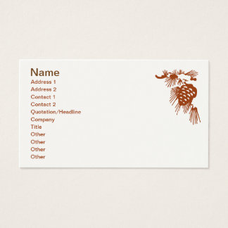 Bus. Card - Pine Cone with Snow