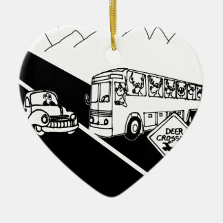Bus Cartoon 3251 Ceramic Ornament