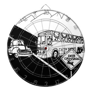 Bus Cartoon 3251 Dartboard
