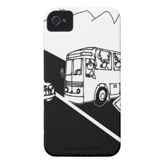 Bus Cartoon 3251 iPhone 4 Case-Mate Cases