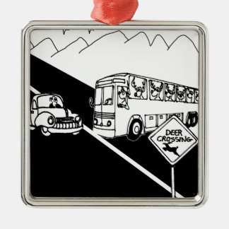 Bus Cartoon 3251 Metal Ornament