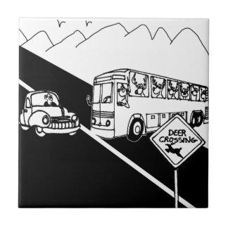 Bus Cartoon 3251 Tile