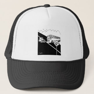 Bus Cartoon 3251 Trucker Hat