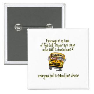 Bus Driver 2 Inch Square Button