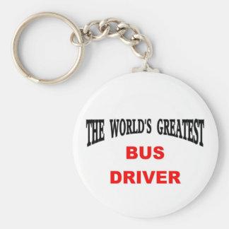 Bus Driver Basic Round Button Keychain