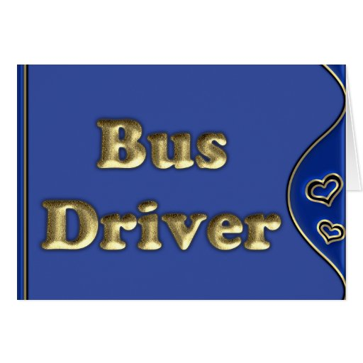 Bus Driver Cards
