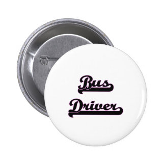 Bus Driver Classic Job Design 2 Inch Round Button