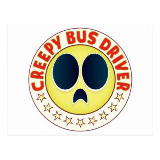 Bus Driver Creepy Postcard