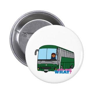 Bus Driver - Dark Pinback Buttons