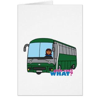 Bus Driver - Dark Greeting Card