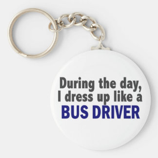 Bus Driver During The Day Key Chain