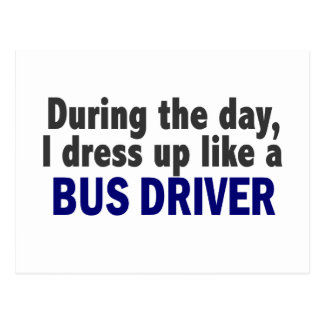 Bus Driver During The Day Post Cards