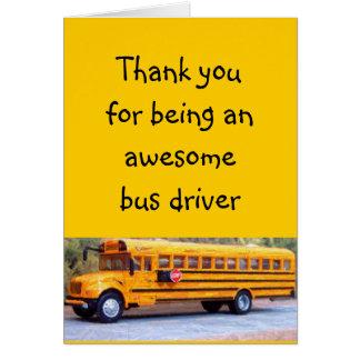 Bus driver greeting card