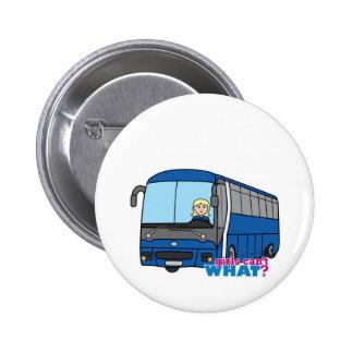 Bus Driver - Light Blonde Pinback Button
