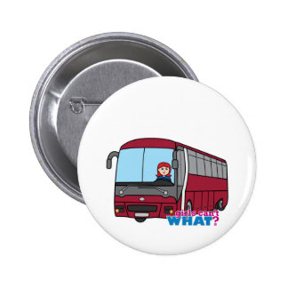 Bus Driver Light/Red 2 Inch Round Button