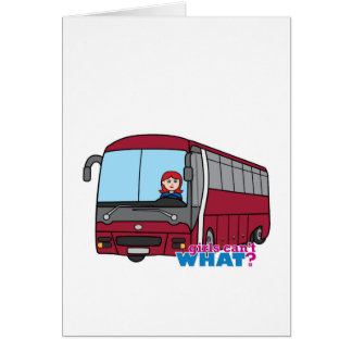 Bus Driver Light Red Greeting Card