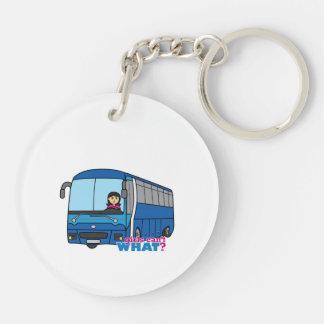 Bus Driver Medium Double-Sided Round Acrylic Keychain