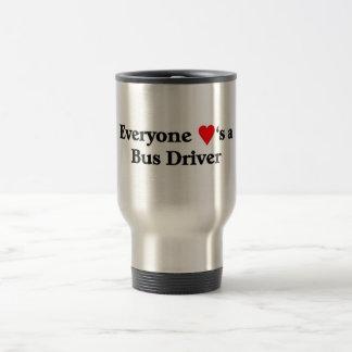 Bus Driver 15 Oz Stainless Steel Travel Mug