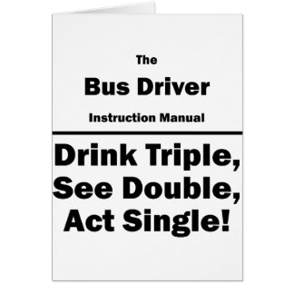 bus driver note card