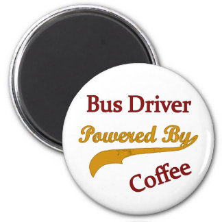 Bus Driver Powered By Coffee Magnet