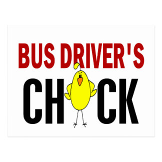 BUS DRIVER'S CHICK POST CARD