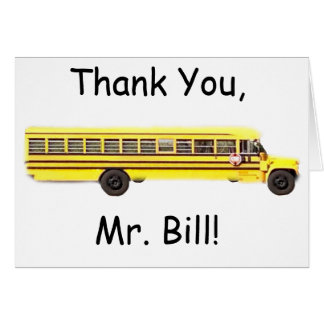 Bus Driver Thank You Card