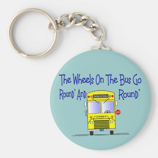 """Bus Driver """"The Wheels on the Bus"""" Keychains"""