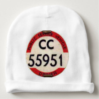 BUS DRIVER UK BADGE RETRO BABY BEANIE