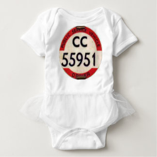 BUS DRIVER UK BADGE RETRO BABY BODYSUIT