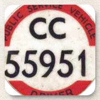 BUS DRIVER UK BADGE RETRO COASTER