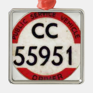 BUS DRIVER UK BADGE RETRO METAL ORNAMENT