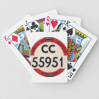BUS DRIVER UK BADGE RETRO POKER DECK