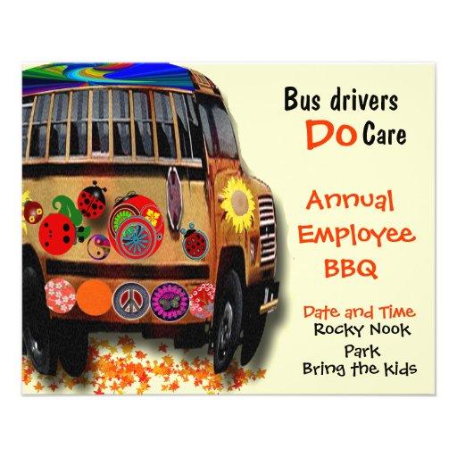 Bus Drivers Annual BBQ Custom Flyer