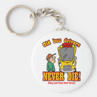 Bus Drivers Basic Round Button Keychain