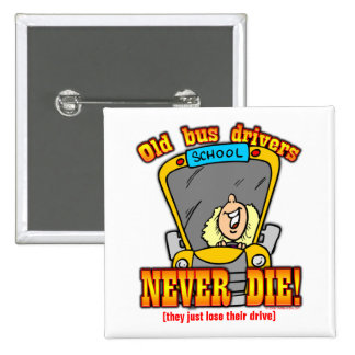 Bus Drivers Pinback Buttons