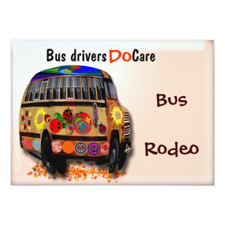 "Bus Drivers Do Care 5"" X 7"" Invitation Card"