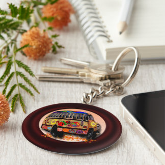 Bus Drivers Do Care Basic Round Button Keychain