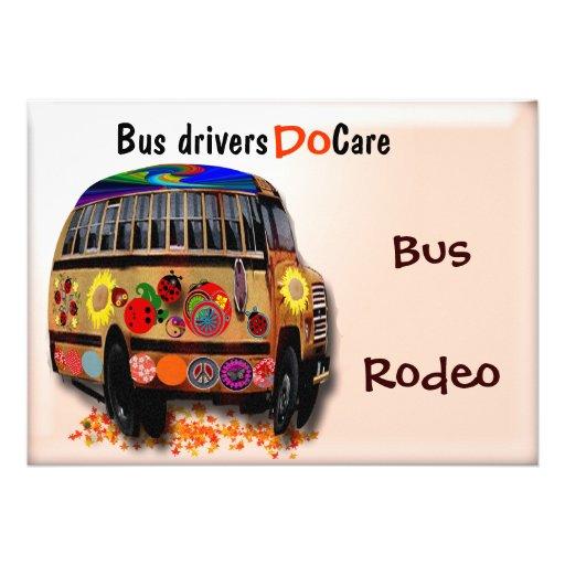 Bus Drivers Do Care Custom Invite