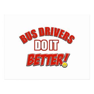 Bus drivers do it better postcard