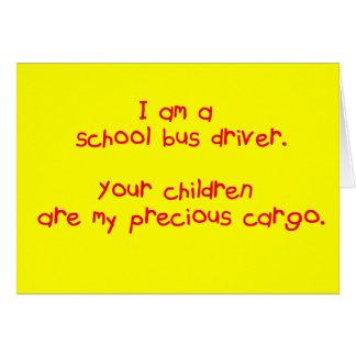 Bus Driver's Precious Cargo Card