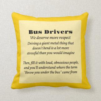 Bus Drivers Throw Pillows